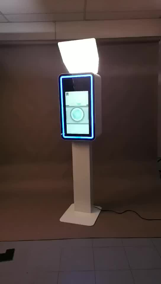 Open air 21.5 inch mini photo booth comes with lights and road case