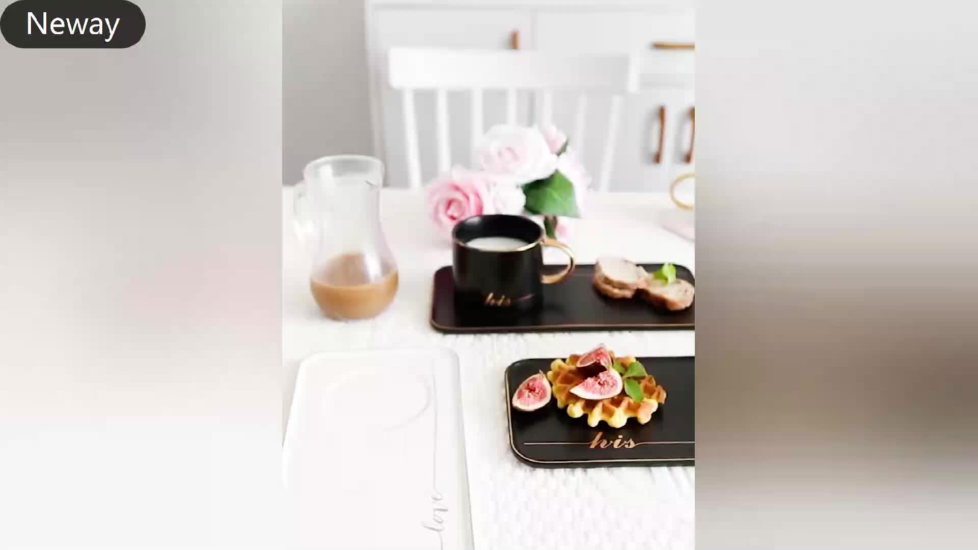 Nórdico cerâmica café da manhã xícara de café talheres criativo Inglês jogo de chá xícara de café e pires xícara de chá da tarde