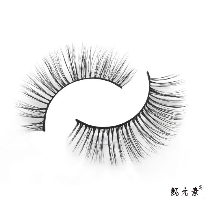 Natural Korea PBT Fiber 3Pairs False Lashes 100% handmade 3D Faux Mink Lashes