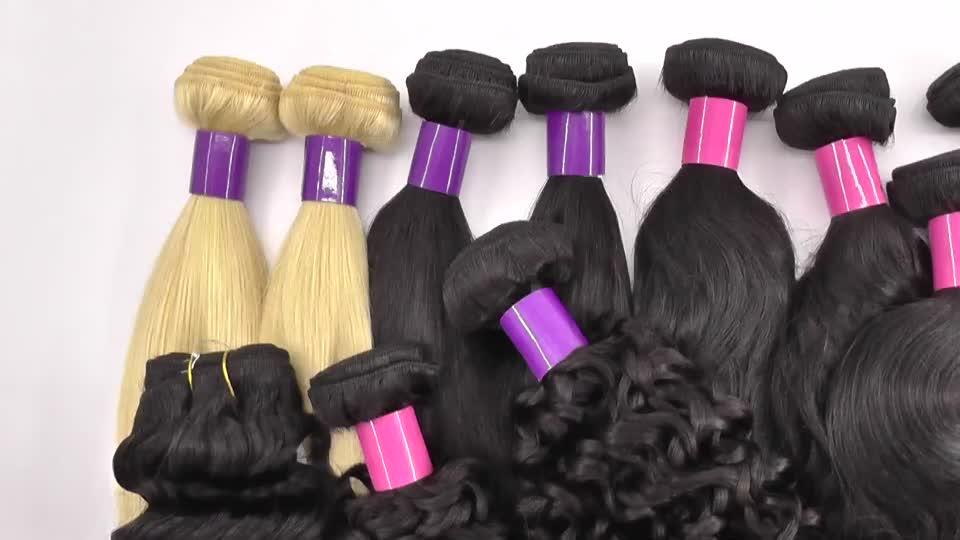 Vente de noël Échantillon Gratuit Faisceaux De Cheveux Bruts Non Transformés Cheveux Brésiliens Pas Cher Cuticule Alignés Cheveux Vierges Pour La Vente En Gros