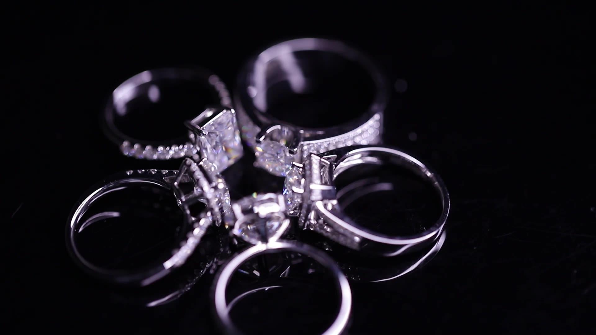 Custom design women engagement wedding brand jewelry 14k 18k gold moissanite diamond ring