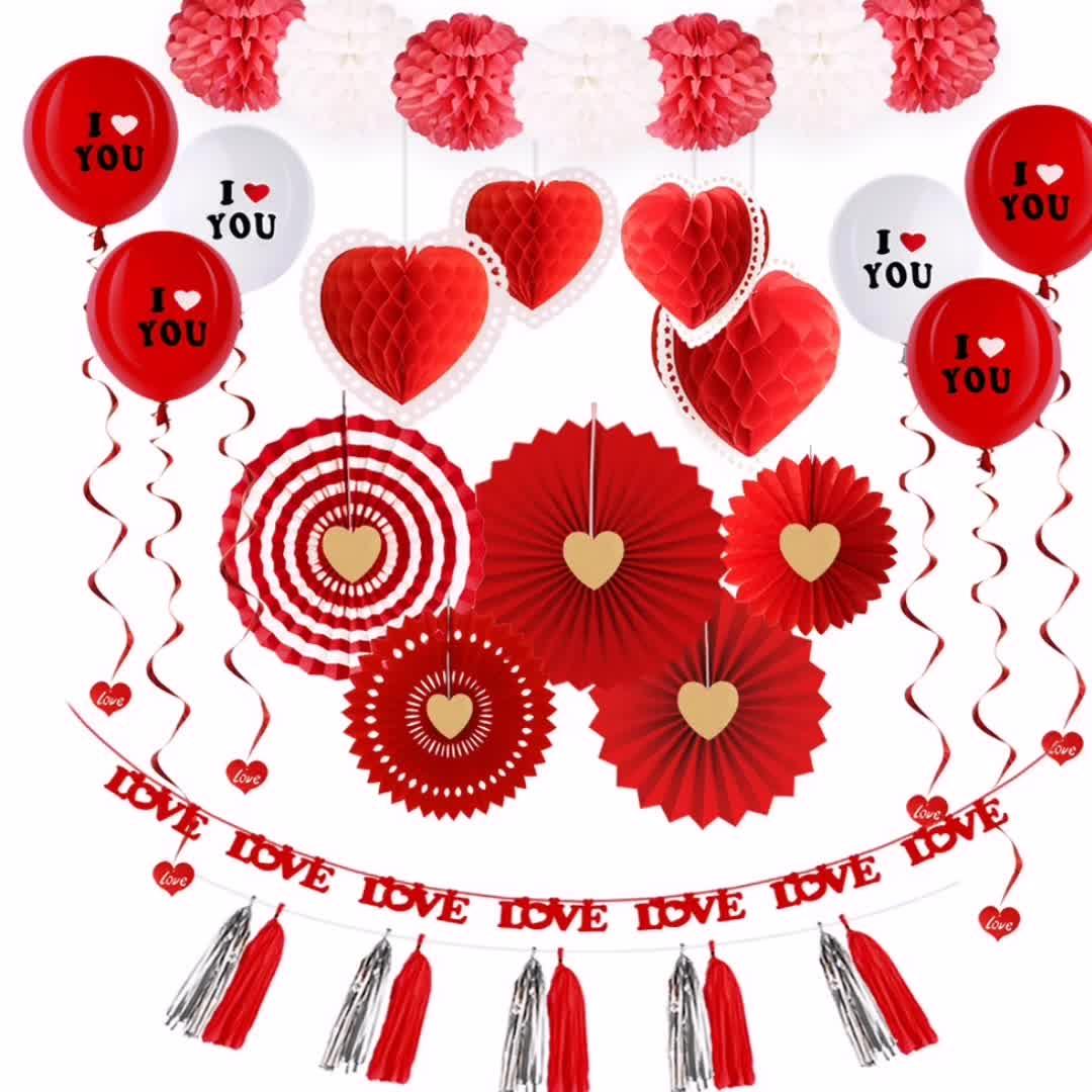 Sweetheart wedding party cung cấp trang trí giấy set & lễ hội và kỷ niệm đảng set