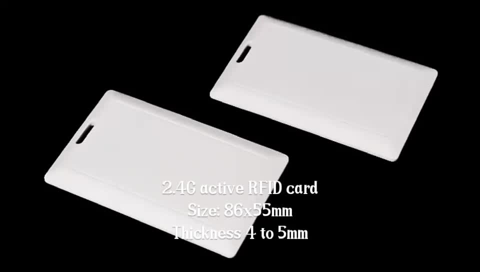 Pre-printed 2.4G RFID Active Card Tag for School Attendance and Home Communication