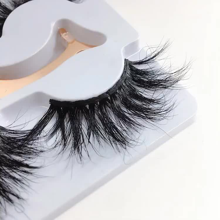 Factory Price 25mm real mink Eyelashes 3 pairs 3 types come in one box multivariat style in good price