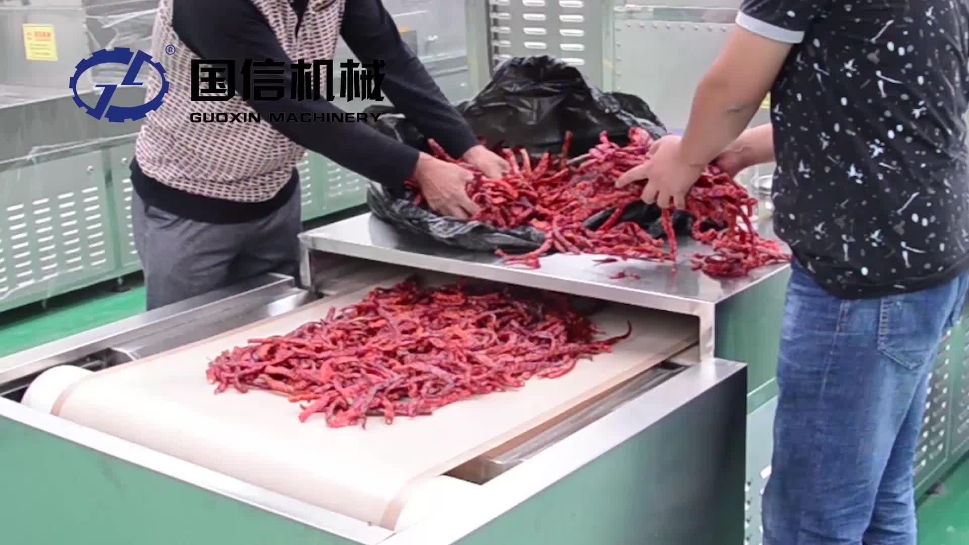 Endüstriyel konveyör bant tipi mikrodalga ot yaprak moringa yaprakları mantar gıda kurutma makinesi