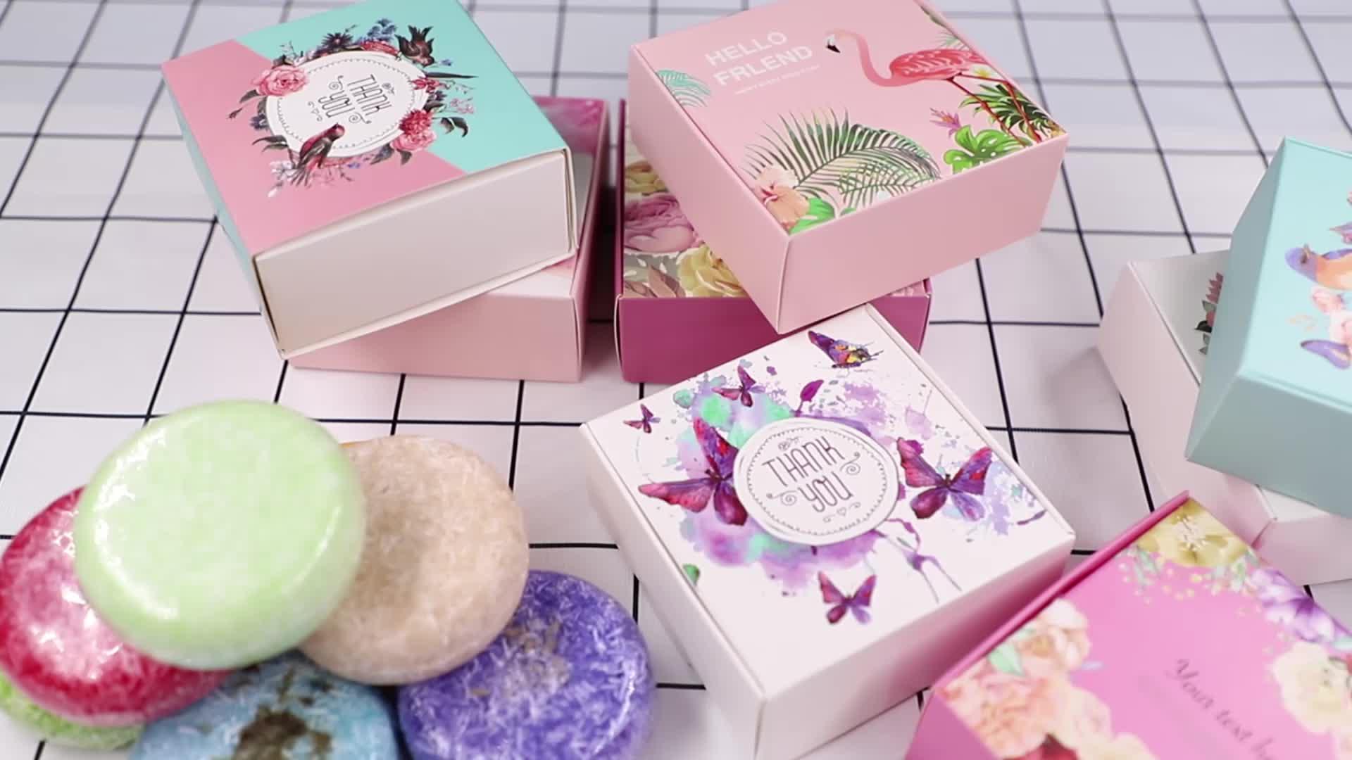100% מכירה לוהטת מותג פרטי בעבודת יד טבעוני פח קופסא מתנת סט שיער סבון טבעי בועת טהור אורגני מוצק שמפו בר עבור שיער