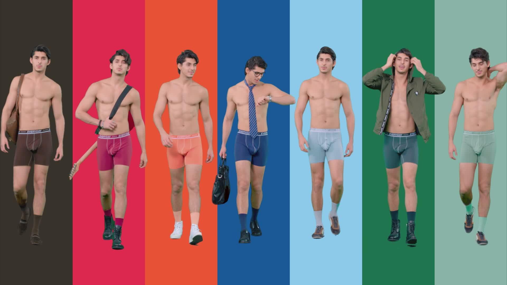 Separatec ขายส่งแฟชั่นเซ็กซี่เซ็กซี่กีฬากางเกงขาสั้นผ้าฝ้ายผู้ชายชุดชั้นใน 7 แพ็ค