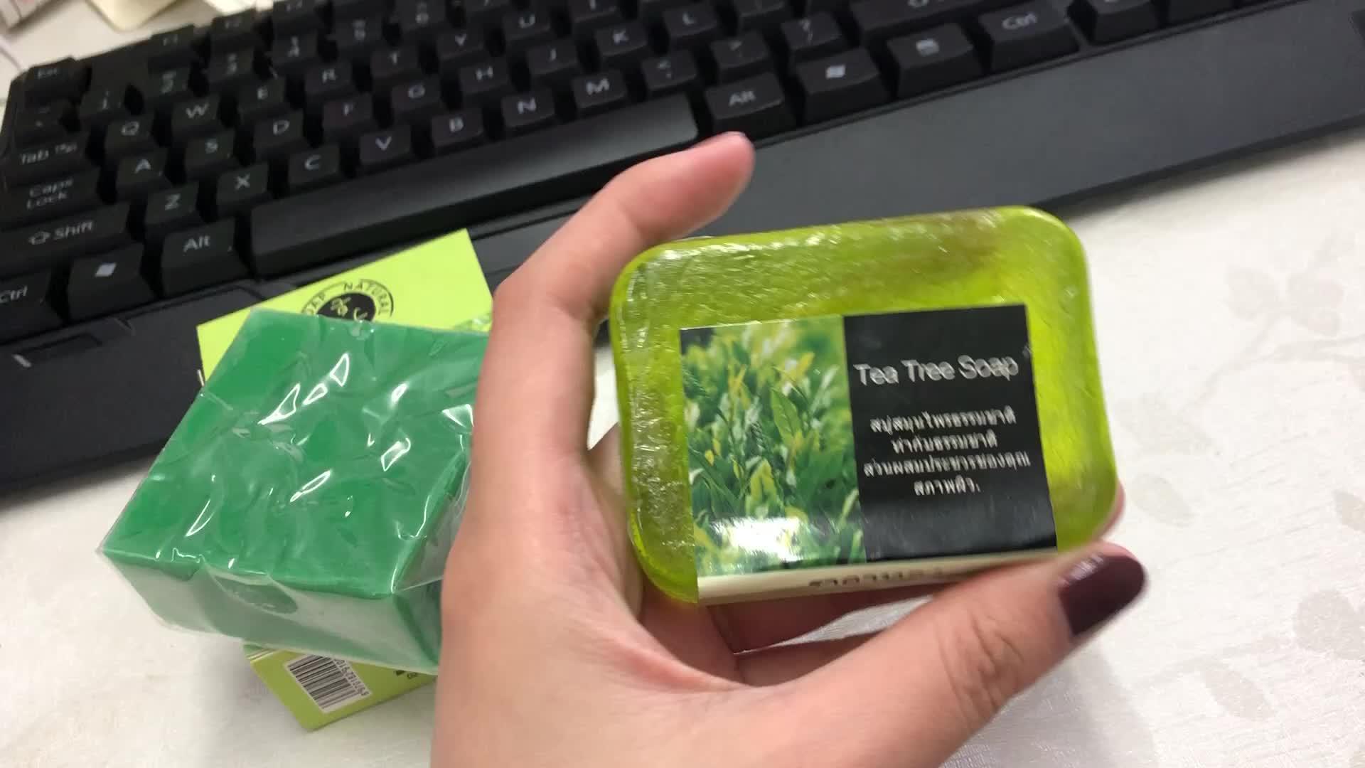 Alibaba China Wholesale handgemachte 100g Teebaumöl-Seife für Bad