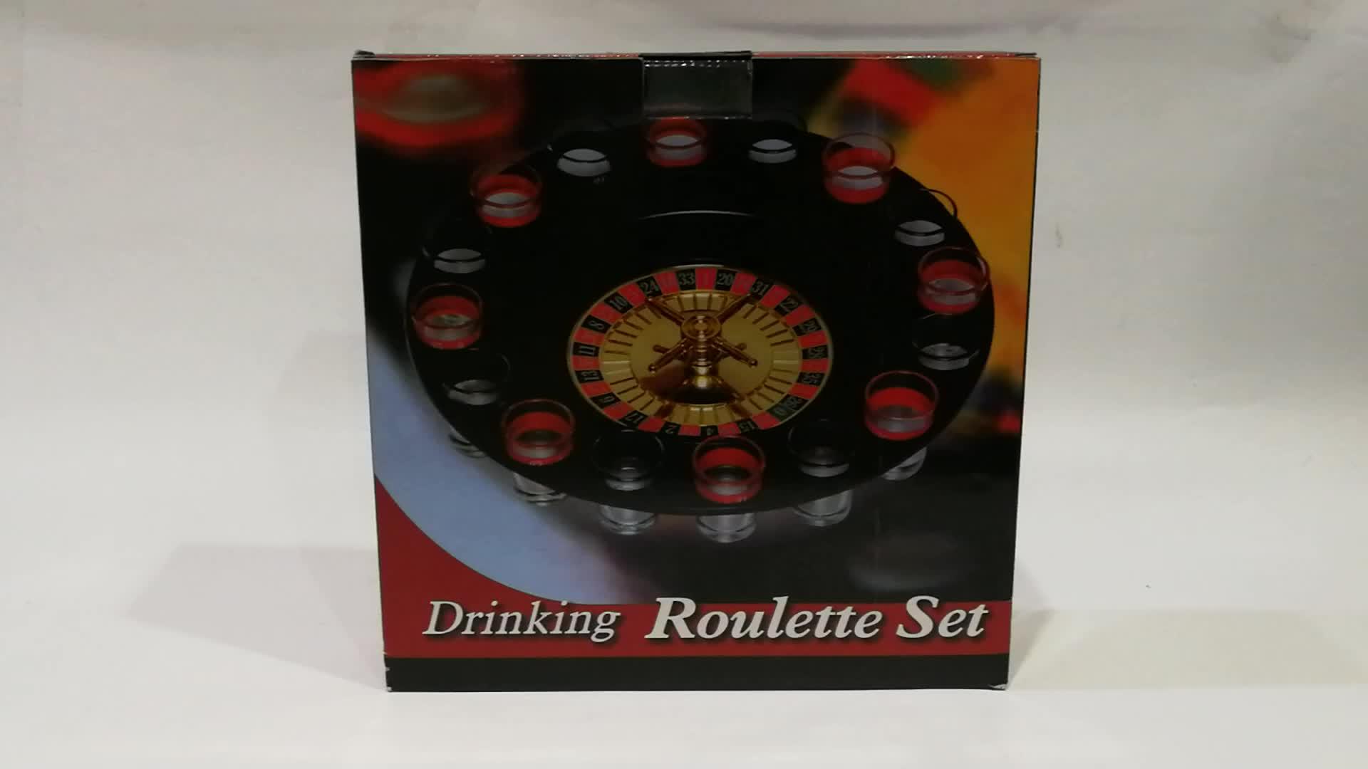 Casino 16 Shot Glas Deluxe Roulette & Poker Chips Drinken Casino Roulette Wiel Casino Spel Set