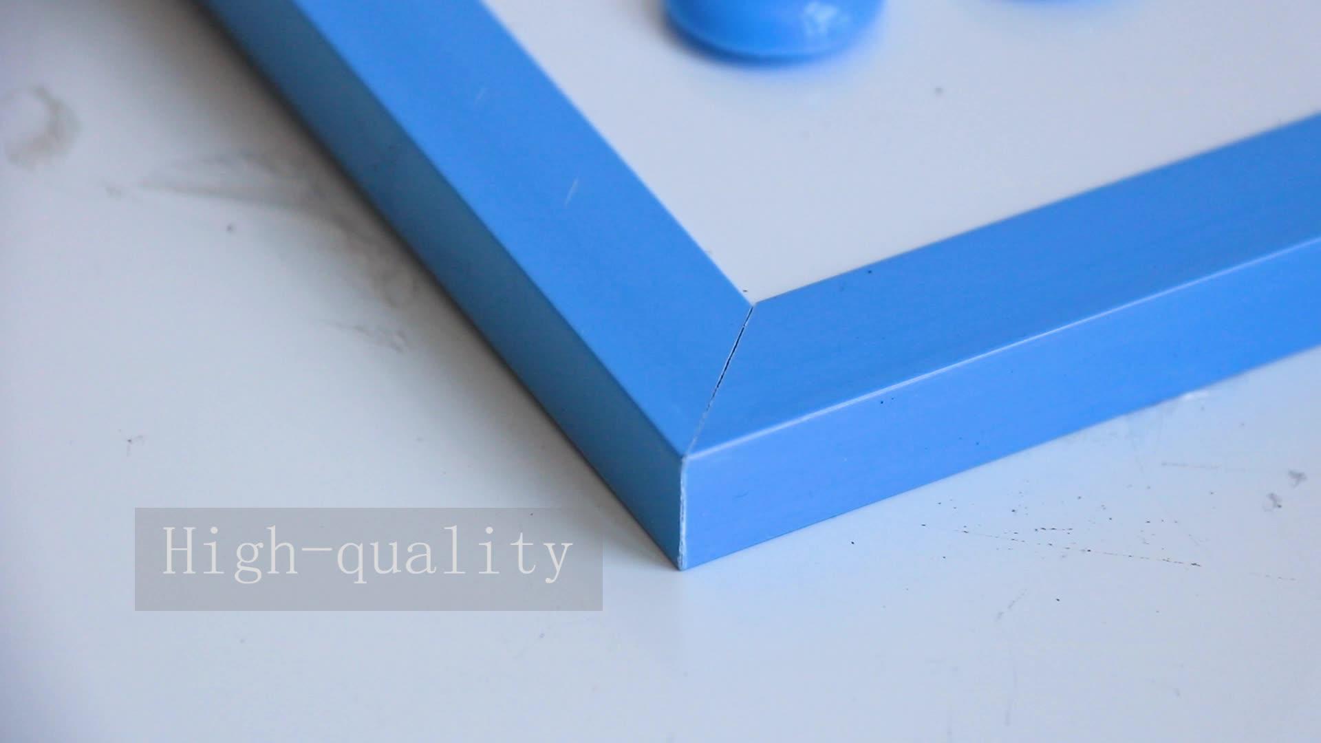 Пользовательские вышивка крестом пакет синий пластик рамки сухой стереть доска Офис Школьные принадлежности картон дети lapboard магнитная доска