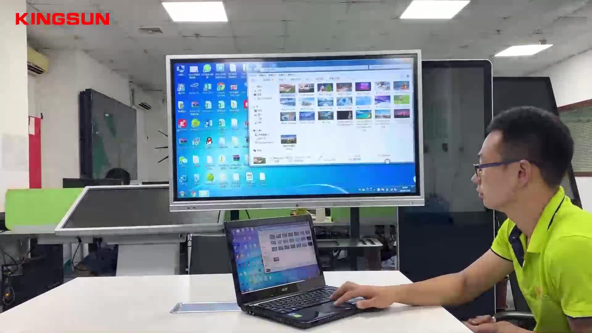86 pulgadas Ultra HD 4K LED pantalla táctil interactiva Monitor LED inteligente de TV con PC todo en uno