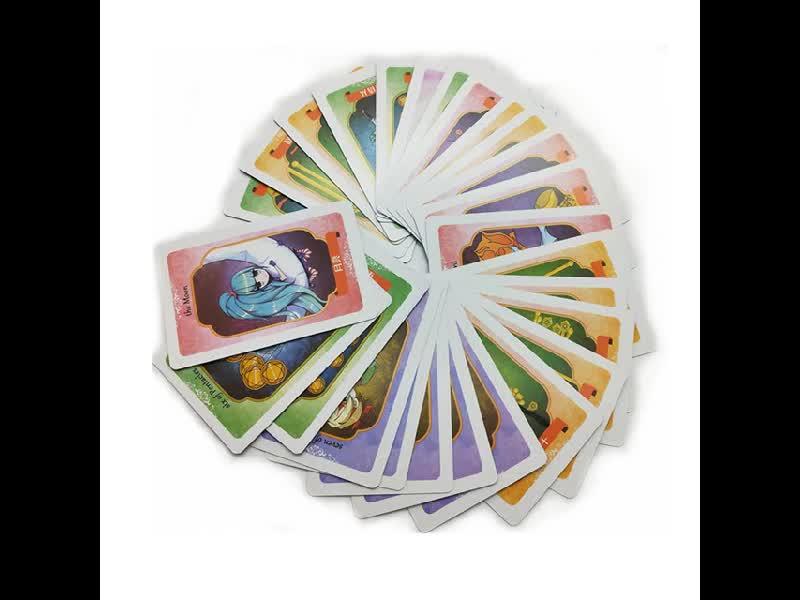 China fabricante de costume impressão e jogar jogos de cartas de tarô cartão google play cartões de presente