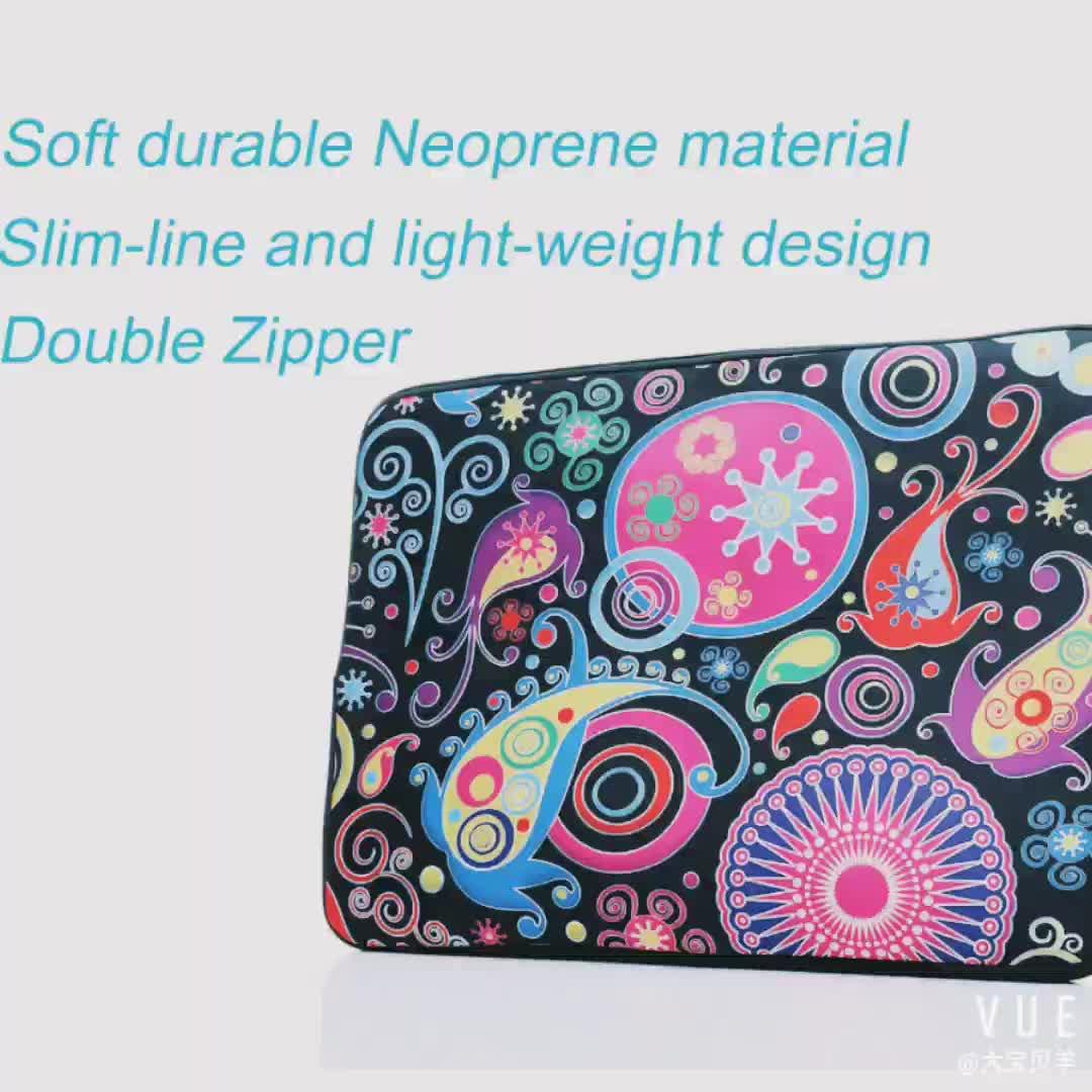 Оптовая продажа Высокое качество 14 дюймов неопрена сублимации laptop sleeve Чехол со скрытыми ручками