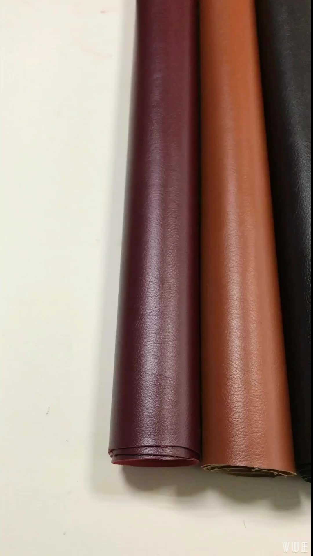 Classical Embossed Litchi design PVC leather for sofa upholstery