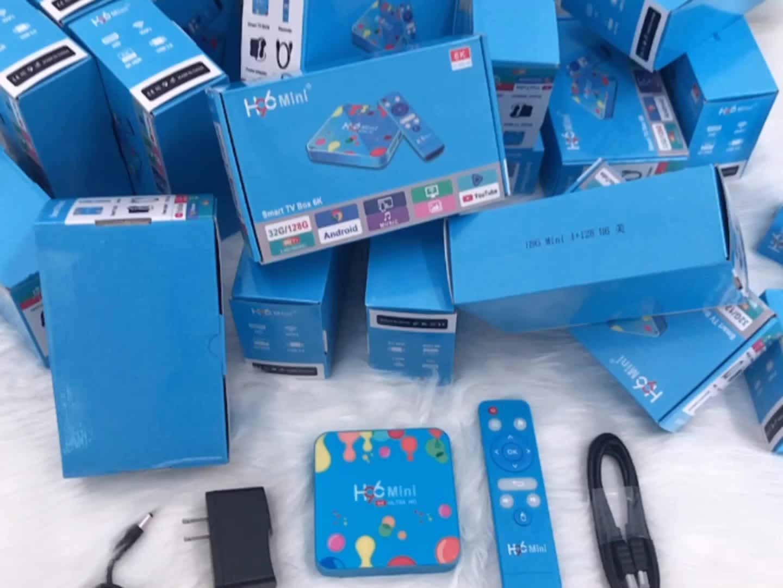 Factory New arrival 2019 media player H96 mini 2gb/16gb dual wifi BT4.0 amlogic h6 android tv box H96mini