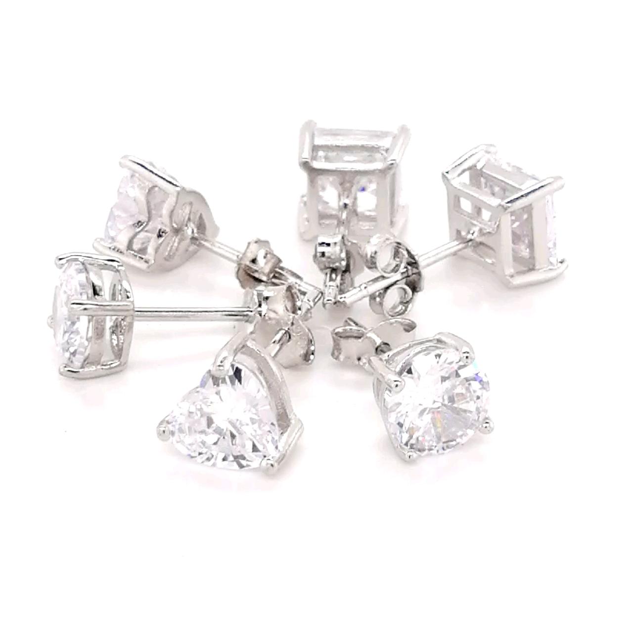 6mm Sterling Silber Elemente Bolzen Ohrring und 925 Silber Mode Ohrring Schmuck 2020