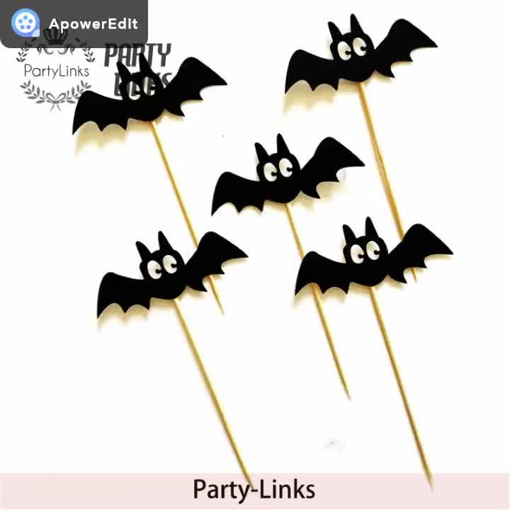 Cake Pop Sticks for Halloween  / cupcake toppers  / cupcake sticks