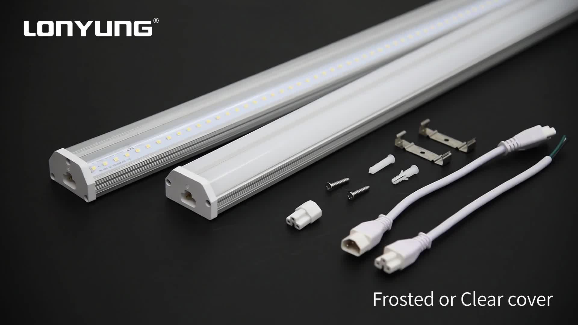 Linkable ETL CE SAA double T5  tube shop light 110lm/w t5 strip light led fixture 300mm-2400mm 2700-6500k t5 fluorescent lamp