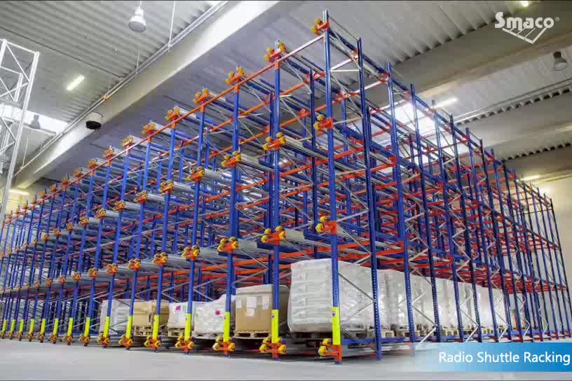 High Density Warehouse Pallet Racks Electric Radio Shuttle Racking with CE