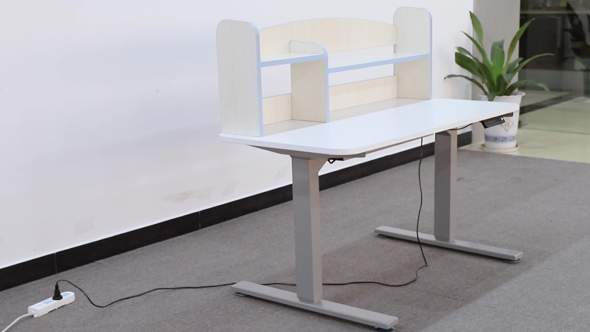 Two Motor Standing Up And Down Desk Height Adjustable Tables For Children