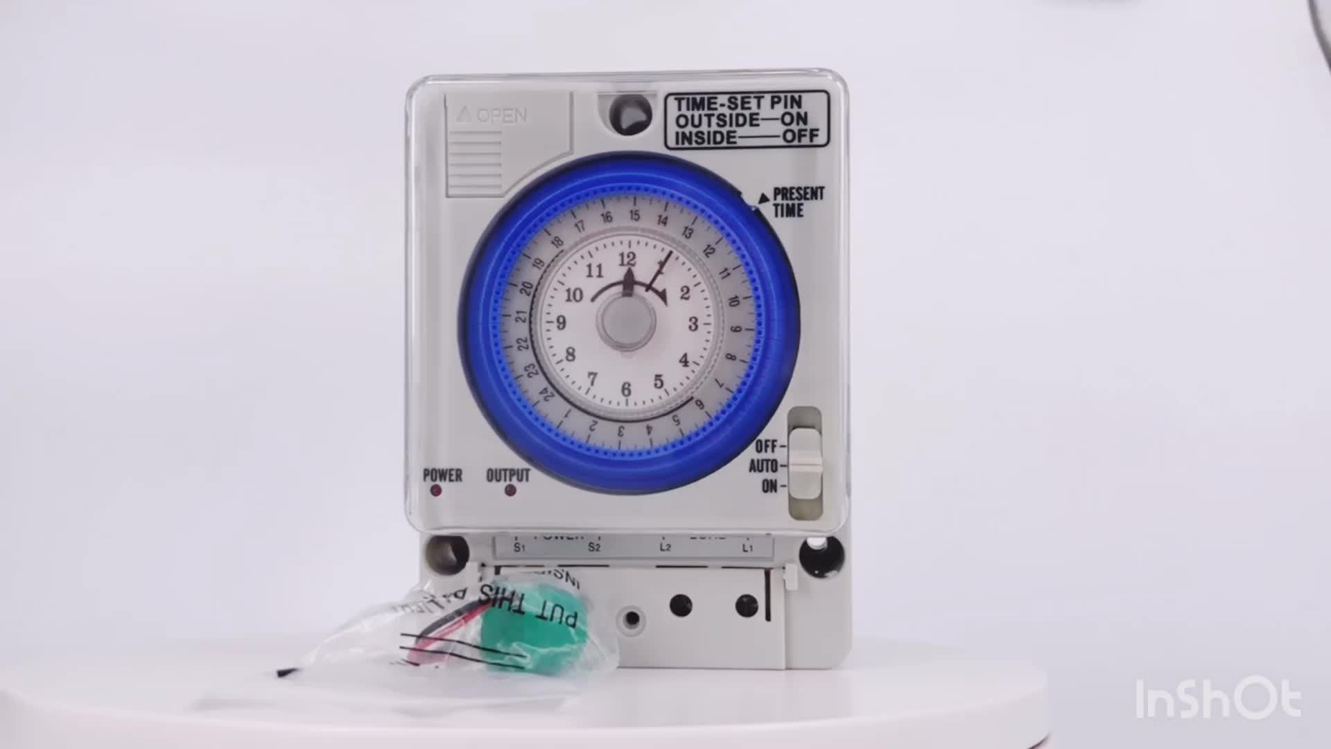 15 Minutes Din Rail 20A analogue time switch battery charger mechanical timer switch TB388