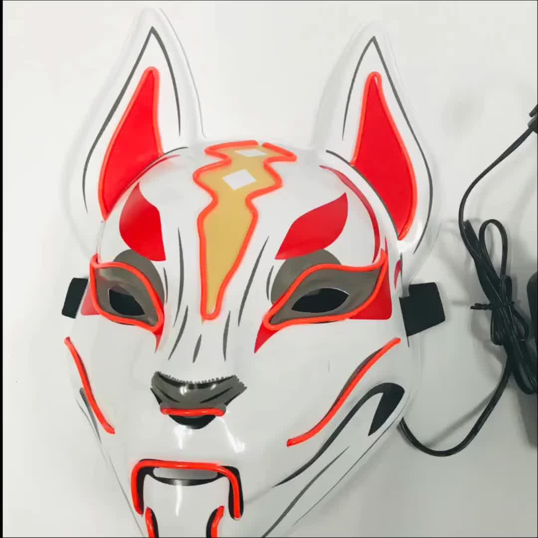 Halloween masquerade máscara de carnaval rave Led light up neon fio El para festas festival traje