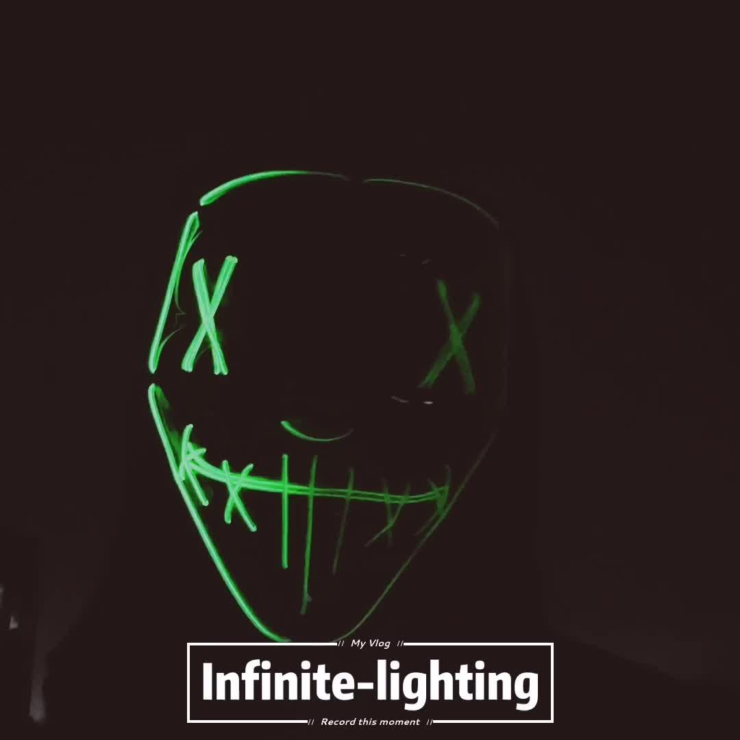 Logo personalizzato Costante su LED Al Neon Maschera La Maschera di Spurgo Elettorale Anni di Film A Tema Della Decorazione Del Partito