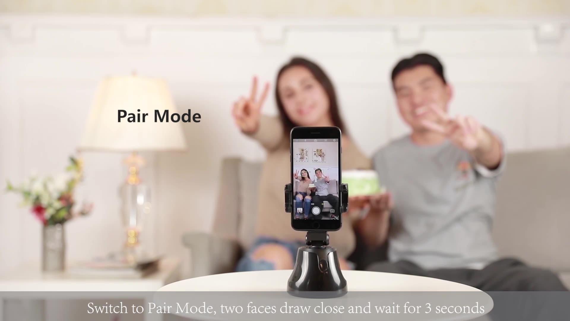 Новый 360 Вращение авто Уход за кожей лица слежение за объектом селфи-Палка с Автоматическое отслеживание Смарт съемки на камеру телефона держатель для телефона