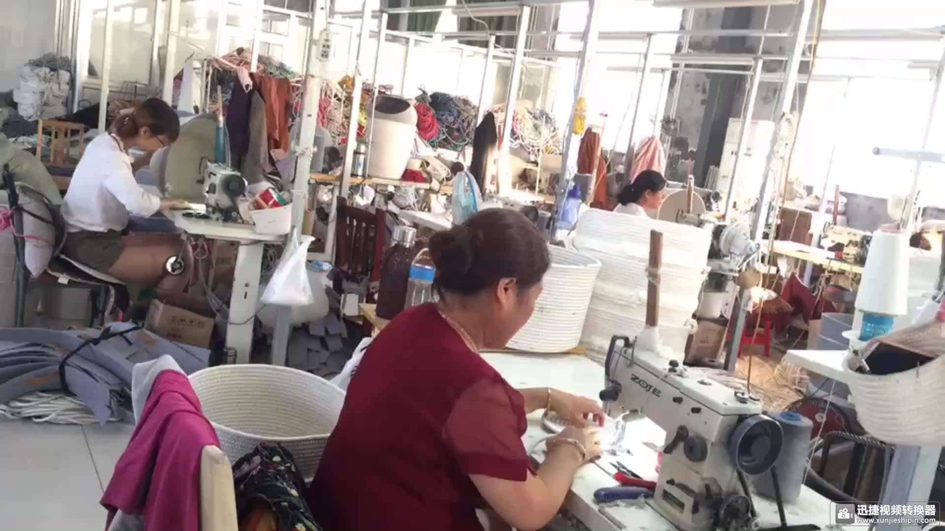 Qjmax Putih dengan Warna Hitam Amazon Dijual Hot Dilipat Tenunan Kapas Tali Keranjang untuk Mainan Buku dan Laundry