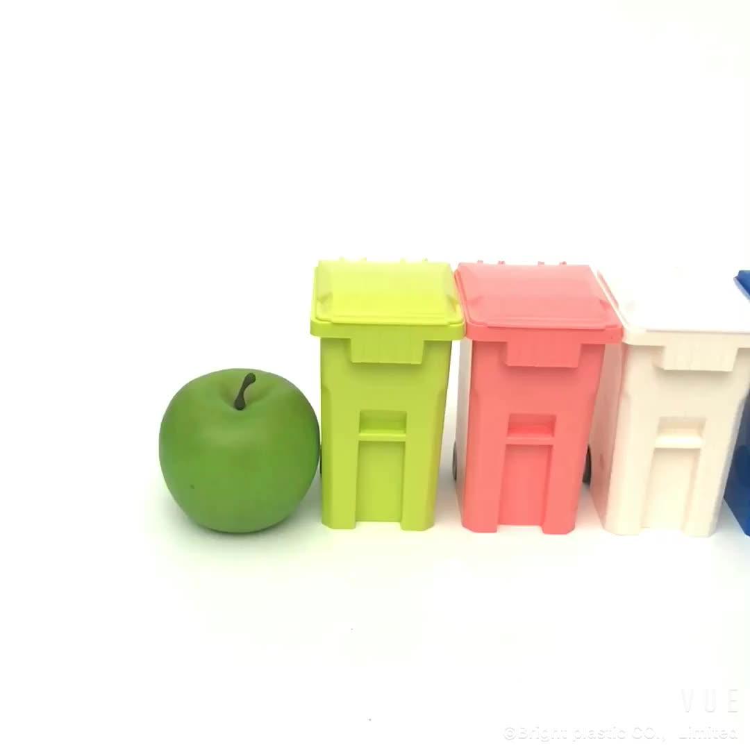 Werbeartikel Mit Logo Kunststoff Mini Abfall Behälter, Mini Mülleimer Mit Deckel/