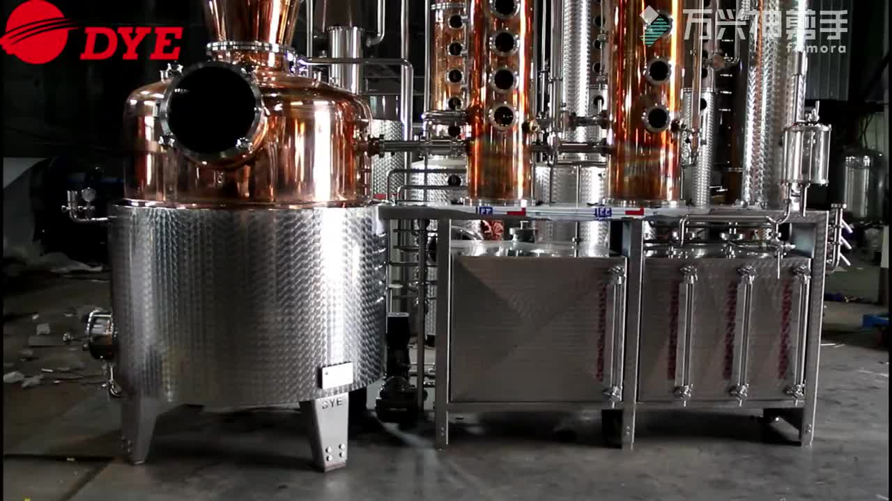 DYE Bright Copper Alcohol Making Machine Commercial Gin Whiskey Vodka Distillery Equipment for Sale