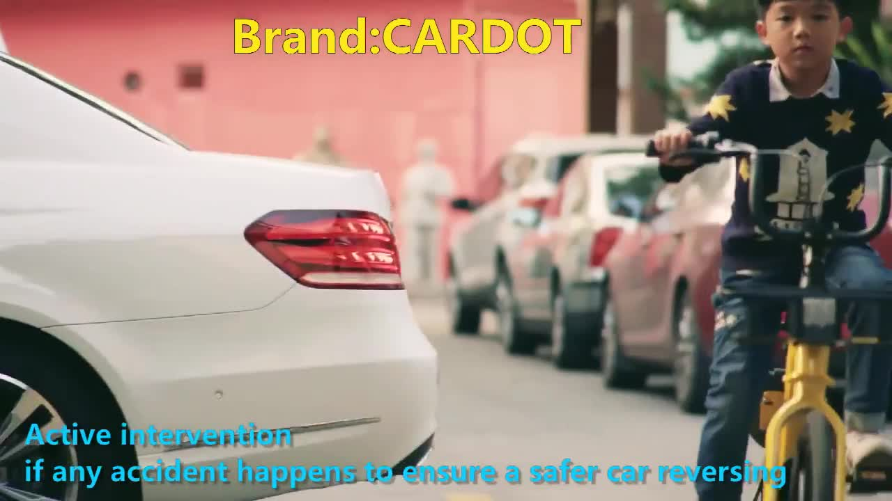 Cardot 2020 The Latest Rear Camera Car Video Smart Wireless Auto Brake System Parking Sensor