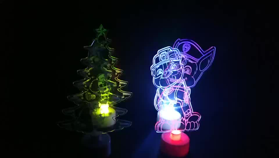7 Color Changing Touch Switch 3D LED Night Light Snowman for Christmas Gift Decorative Lights for Home/Decoration/Party/Wedding