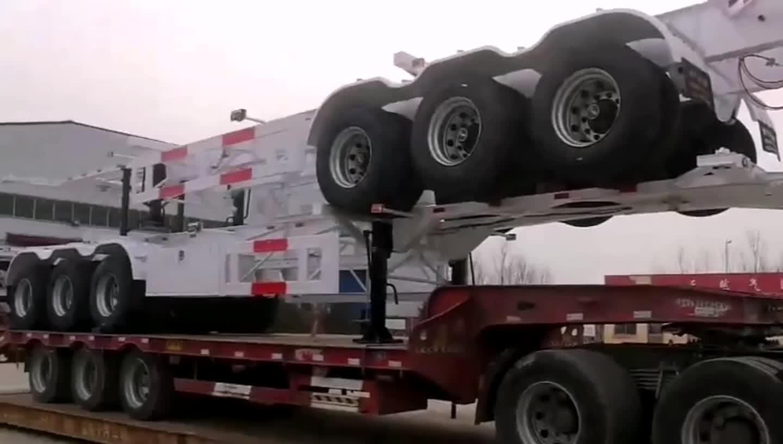 20FT 48FT Aluminium Legierung Container Chassis Licht Gewicht Kommerziellen Fahrzeug Skeleton Lkw Auflieger