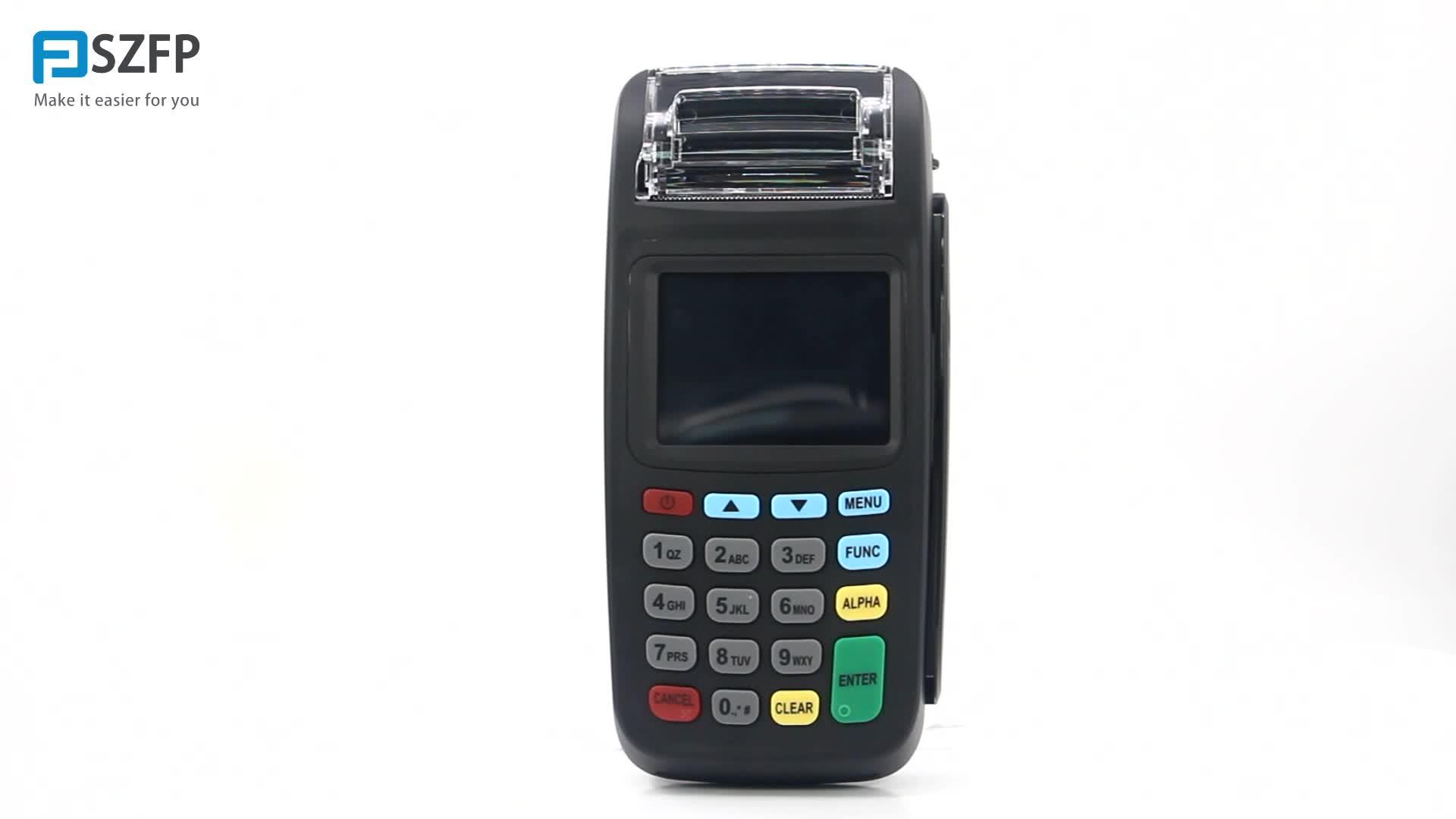 GPRS การเงินไร้สาย POS terminal point of sale ระบบเครื่องพิมพ์