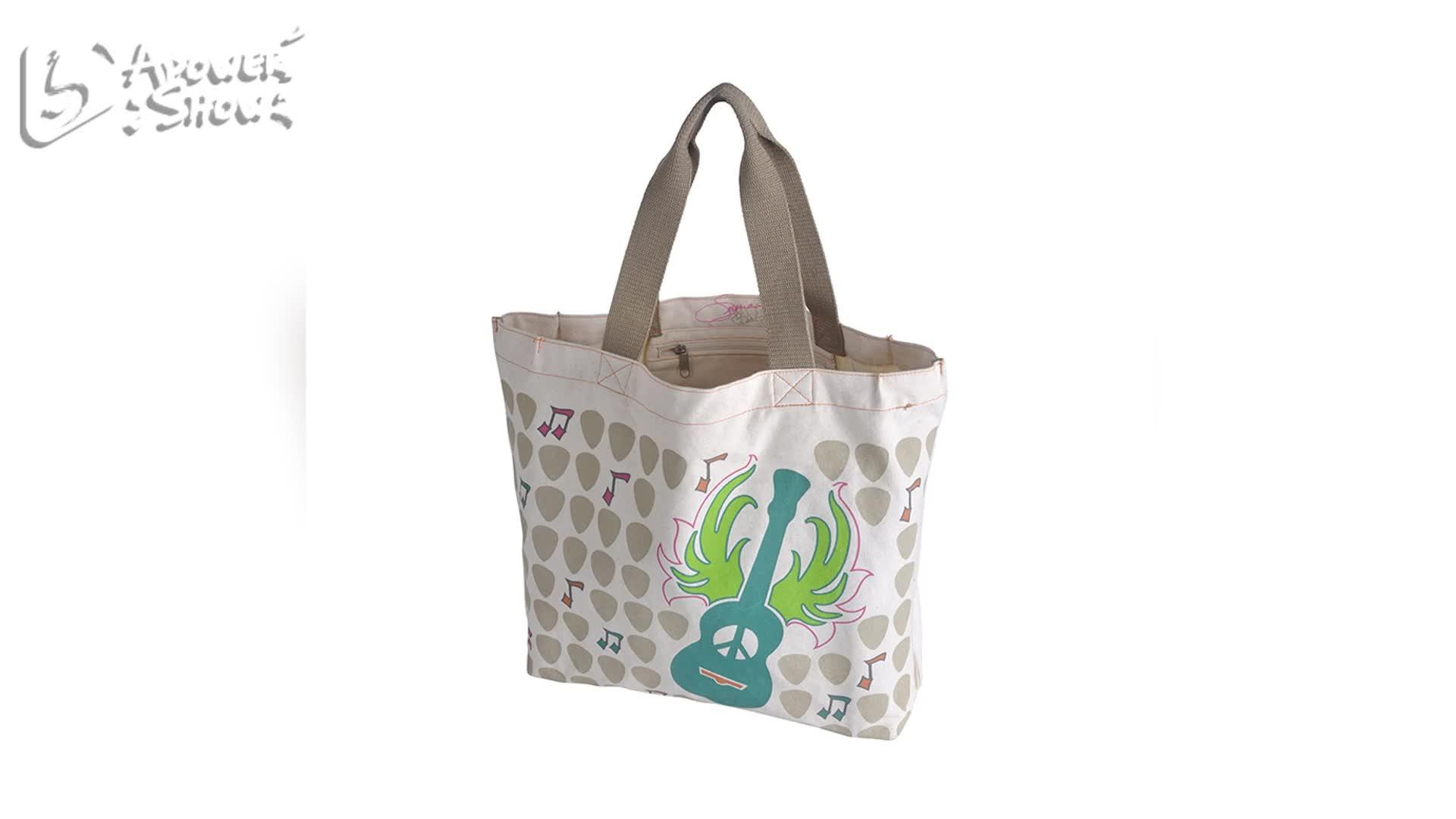 Logotipo personalizado impresso flanela de algodão vegetal orgânico calico dobrável reutilizáveis sacola de lona corda shopping praia saco de portador