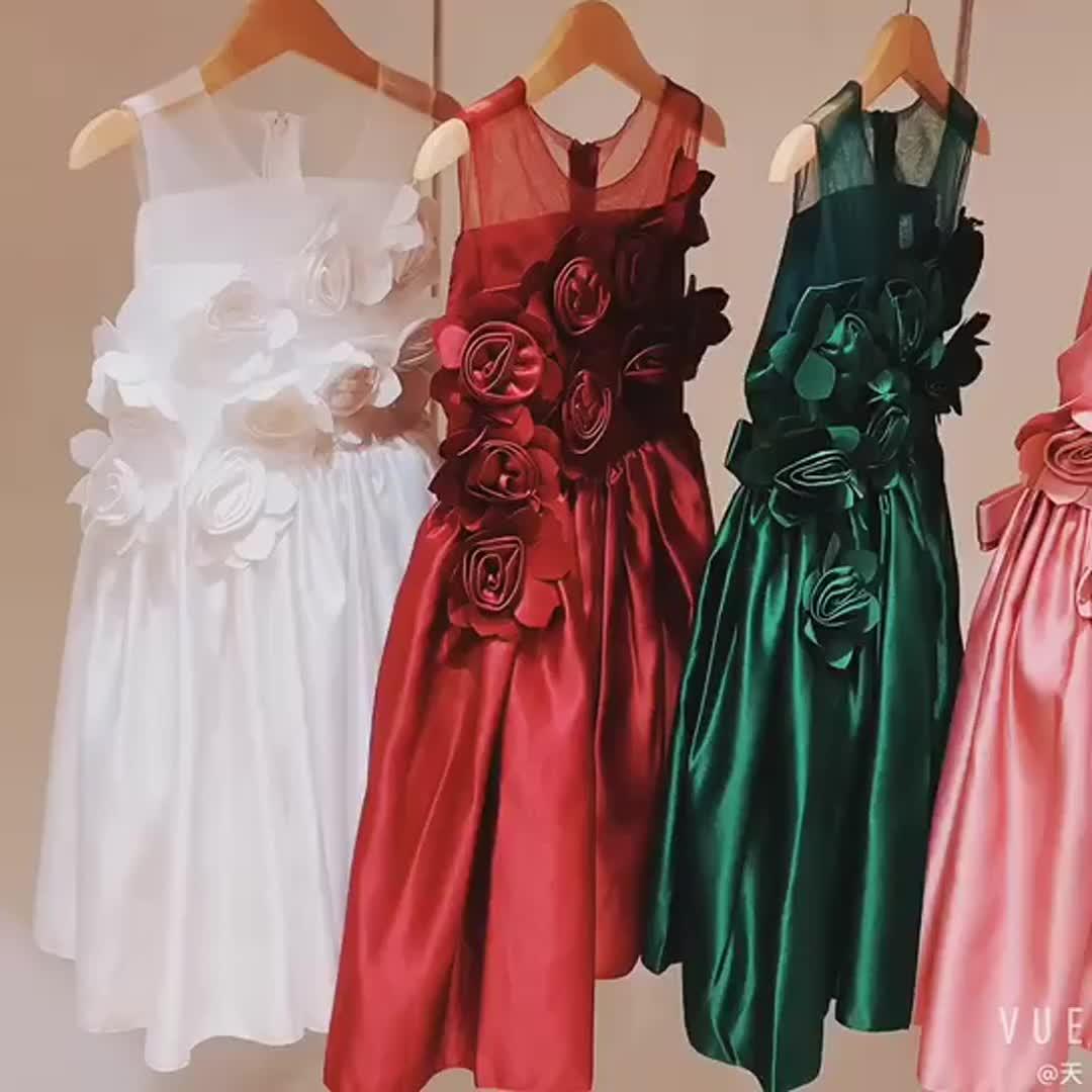 3-8 साल की उम्र के बच्चे लड़की फूल ड्रेस बच्चों फैंसी कपड़े बच्चों पार्टी फ्रॉक L5068