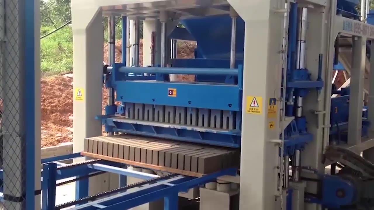 Fully Automatic Block Making Machine QT12-15 Concrete Auto Brick Machine