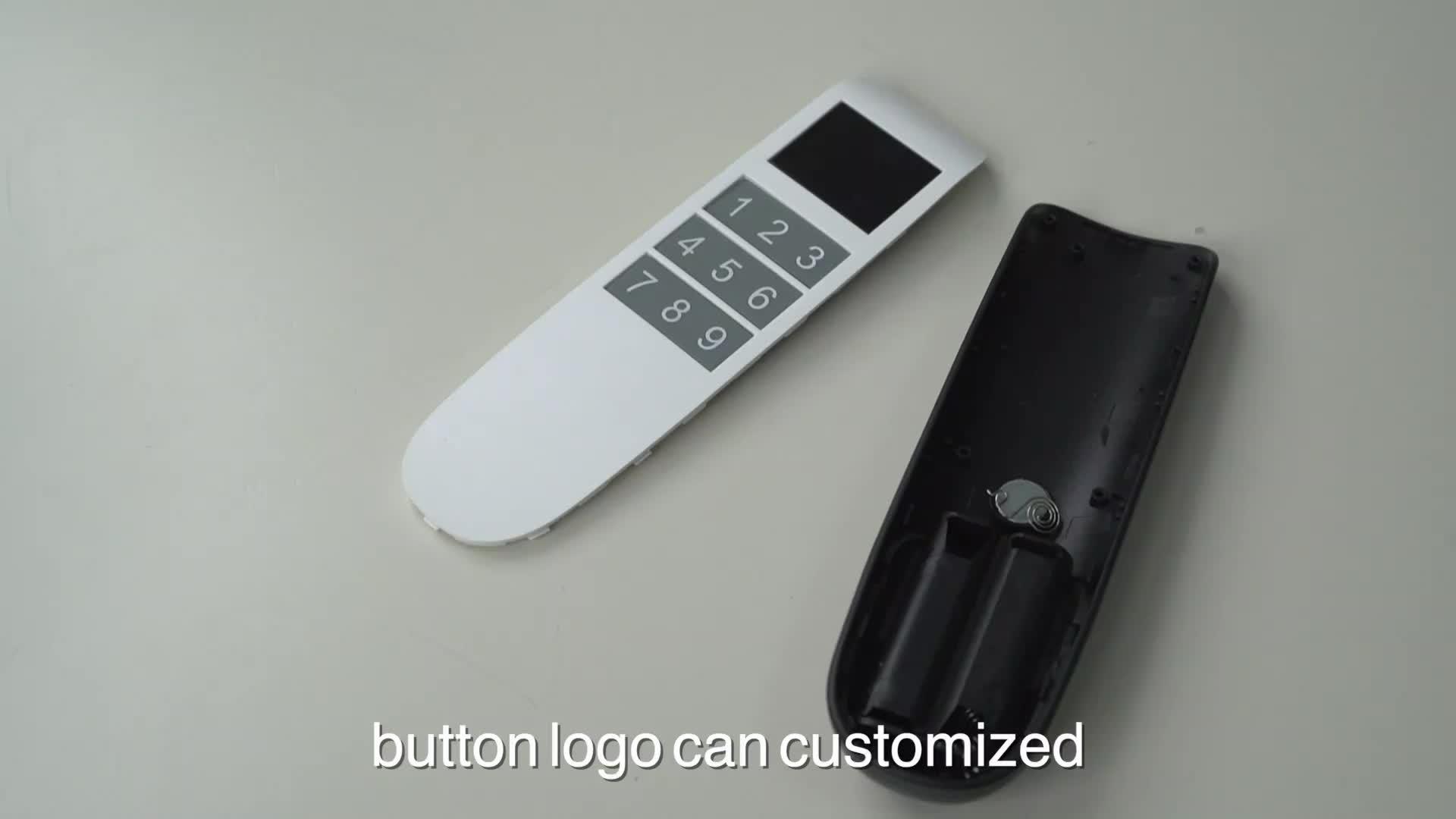 Concurrerende universele RF afstandsbediening case met lcd-scherm