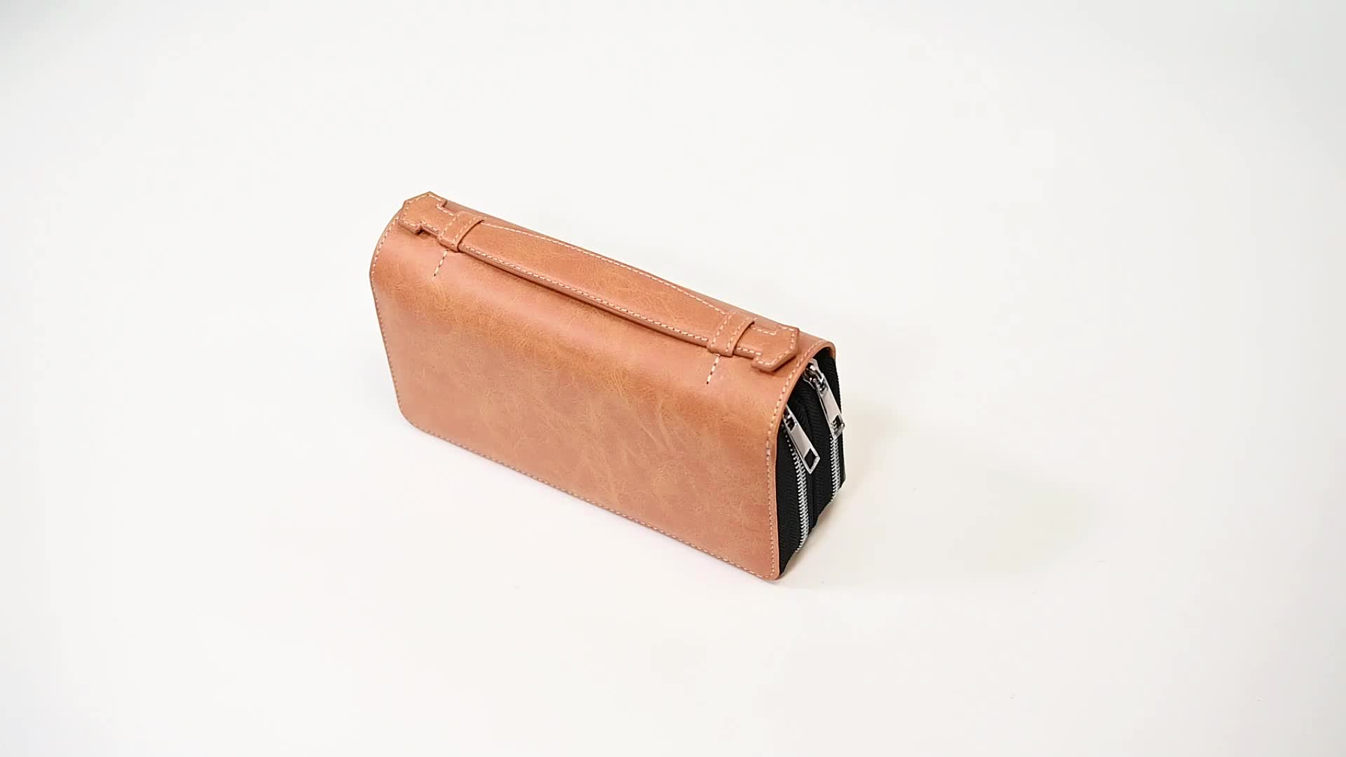 New Design Portable Large Capacity Power Bank Leather Wallet