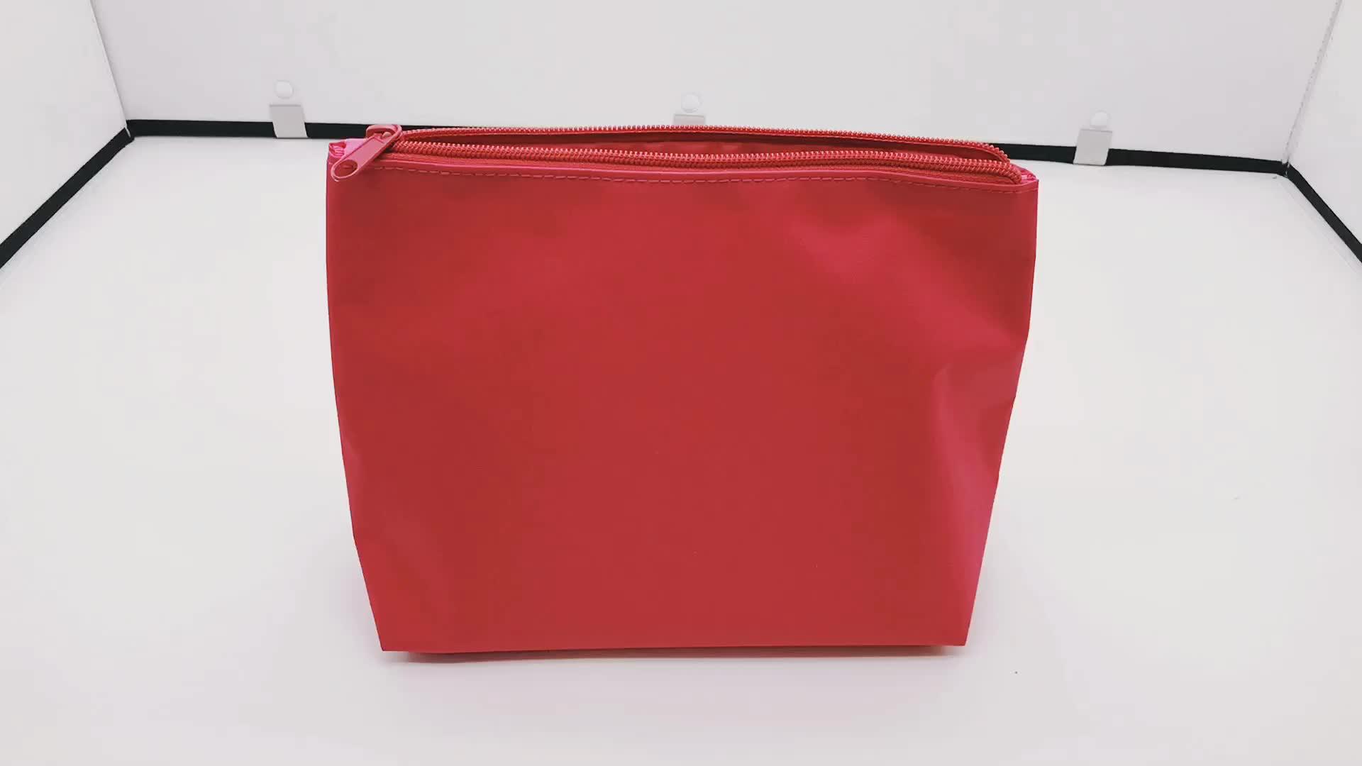 Free Sample Fashion Travel Mini Microfiber Makeup Pouch Bag Makeup Cosmetic Case Bag With Custom logo