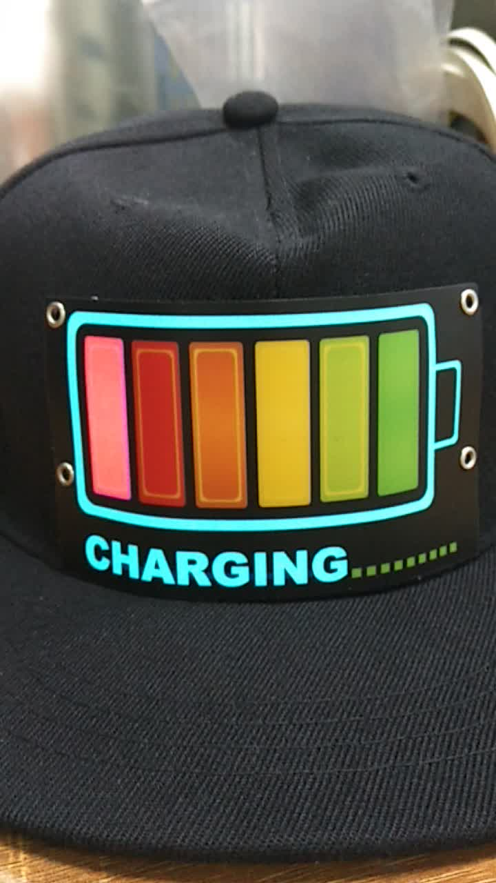 गर्म बिक्री प्रकाश ईएल टोपी ध्वनि सक्रिय नेतृत्व में टोपी मारा गर्म टोपी क्लब पार्टी