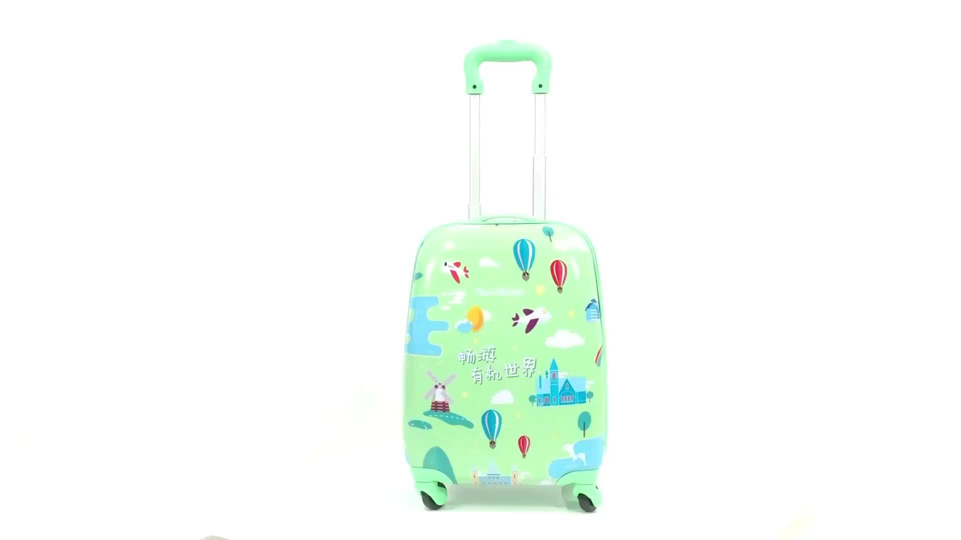 아마존 핫 세일 costom 디자인 공항 여행 3D 트롤리 가방 어린이 라이드 접이식 키즈 트롤리 수하물
