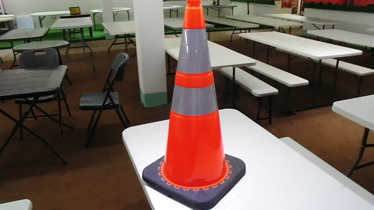USA standard Fluorescent Green and Orange PVC road signs TRAFFIC Safety Cone