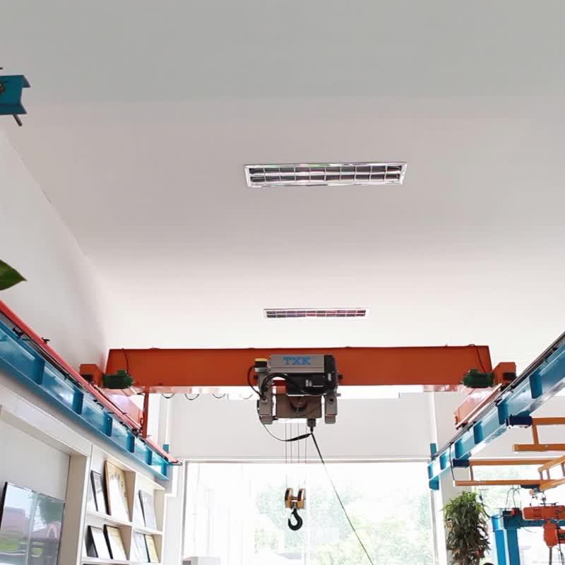 TXK fabriek prijs 10 ton dubbele beam mobiele overhead brug kraan