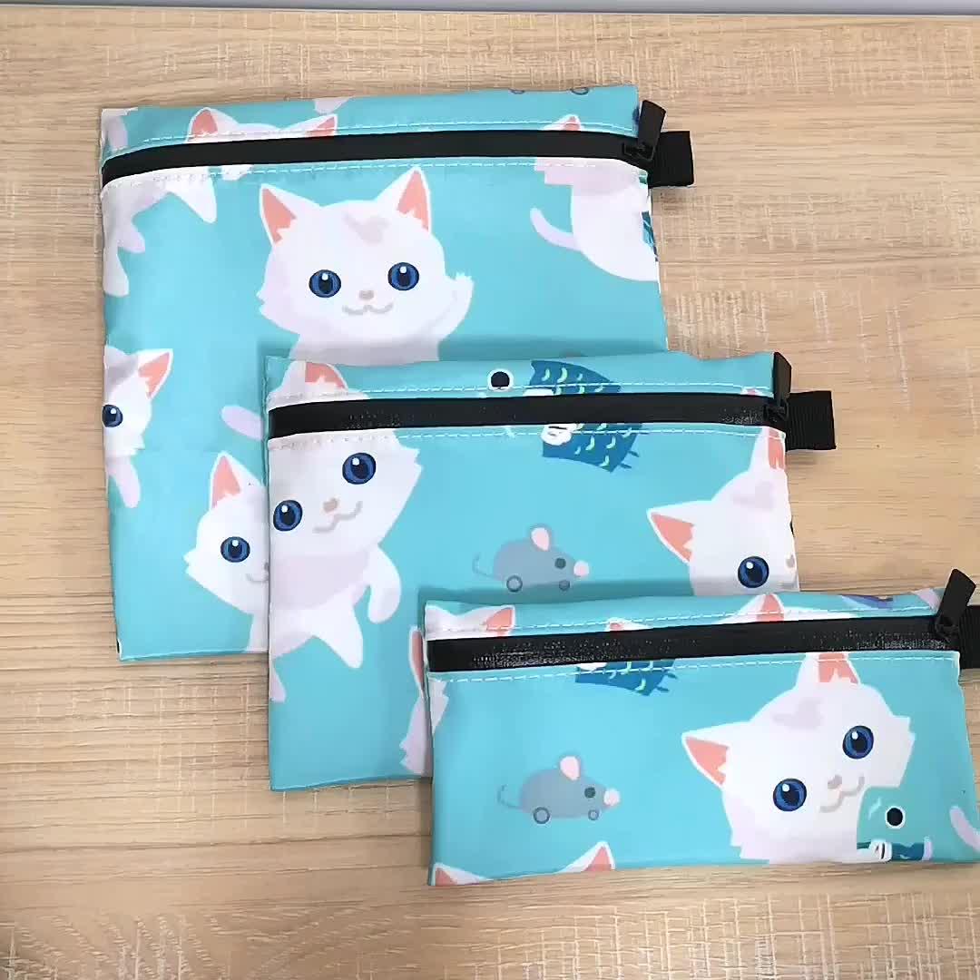 Reusable Insulated Cartoon Printed Snack Food Set Bags Sandwich Bag Fabric