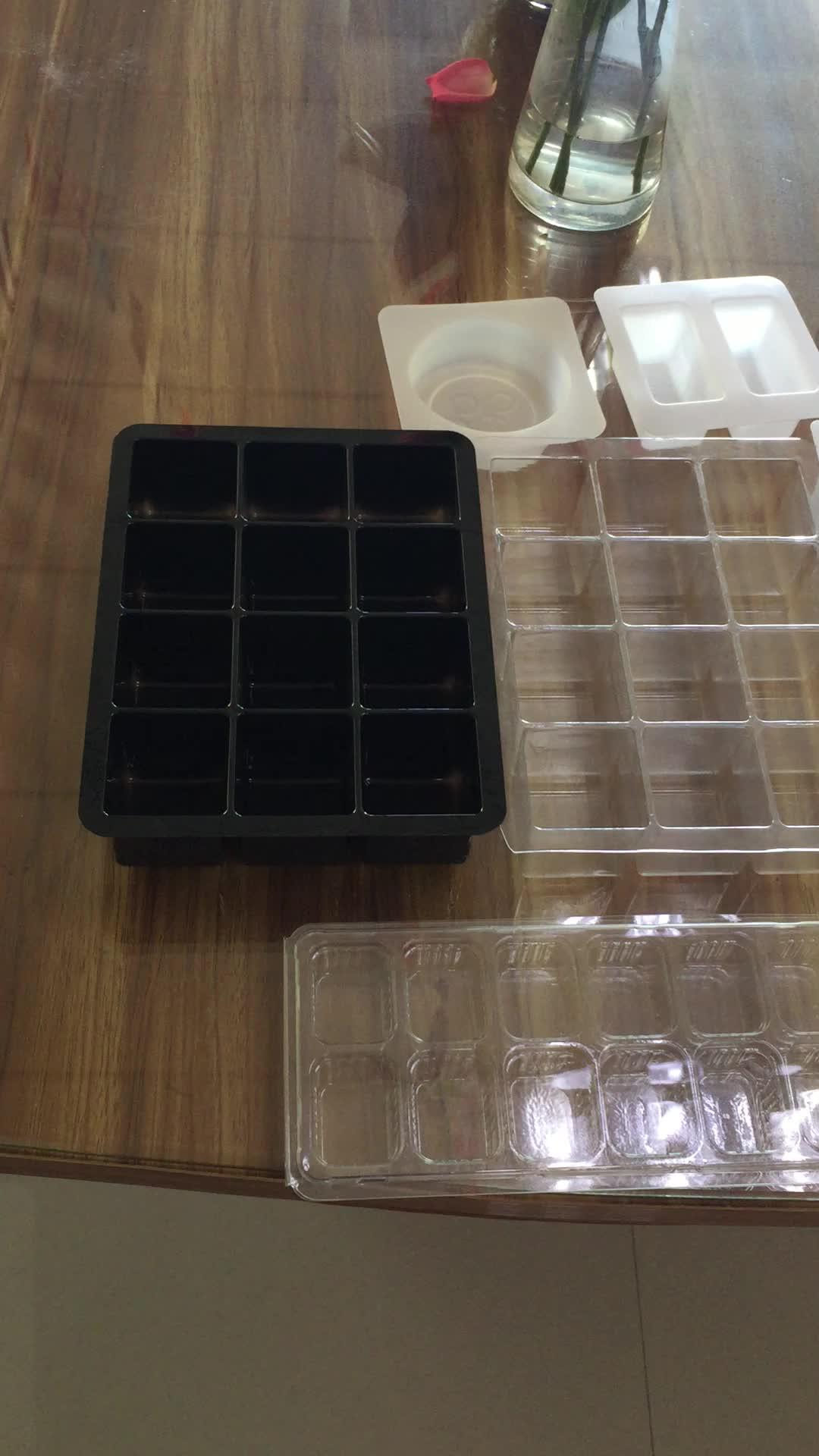 Réutilisable Clair BRICOLAGE Moule En Plastique De Qualité Alimentaire Bac À Glaçons
