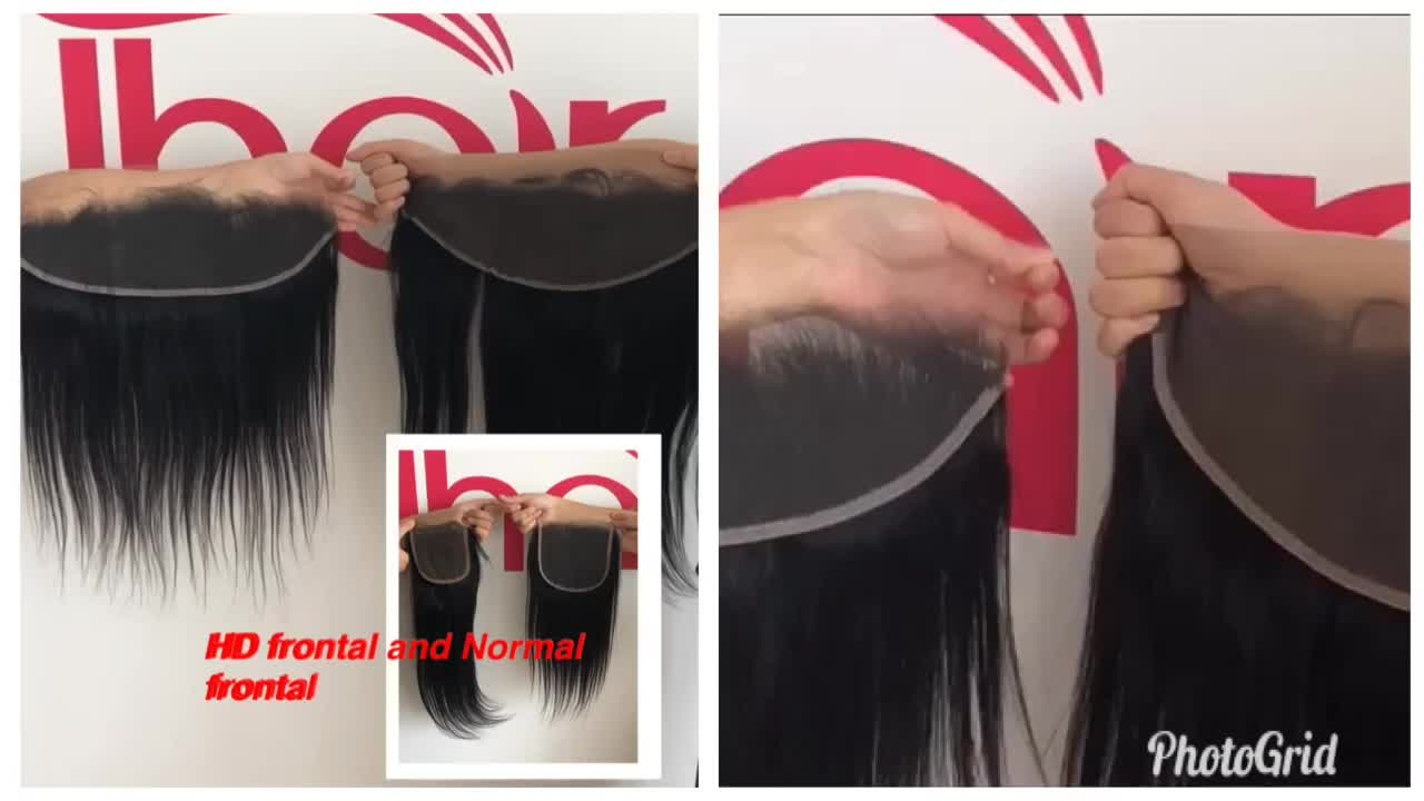 Super Thin Transparent Closure 4x4 5x5 6x6 7x7 Invisible Skin Weft Softed HD Frontal 13X6in In Stock
