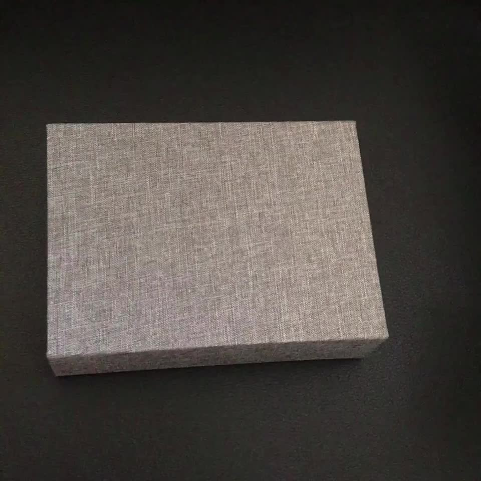 Handmade Small  Boxes for Flash Drive or Jewelry linen wedding photography box