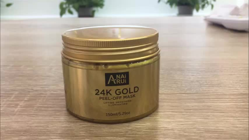 Private Label Anti Wrinkle and Moisturizing collagen peel off face mask 24k peel off gold facial mask